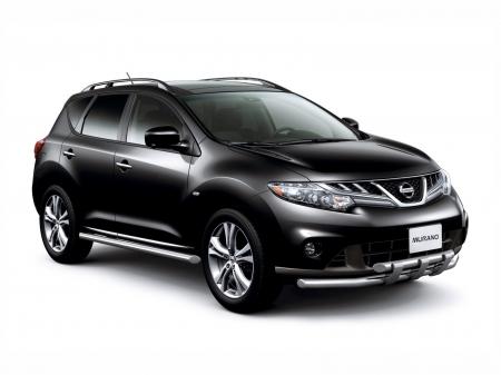 Защита порогов d63мм Nissan Murano (нерж)